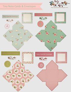 FREE DOWNLOADS-glenda's World : Tiny Note Cards & Envelopes