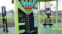 Outdoor gym generates power
