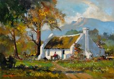 Artwork of Dale Elliot exhibited at Robertson Art Gallery. Original art of more than 60 top South African Artists - Since Mosaic Pictures, South African Artists, Landscape Artwork, Art For Art Sake, Tree Art, Holland, Original Art, Holstein Cows, Art Gallery
