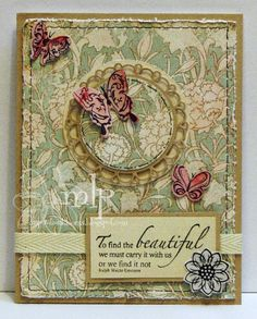 Prickley Pear Rubber Stamps: Mini Butterfly Clearly Beautiful Stamp Set,  Mini Butterfly Die, Scalloped Circle Die