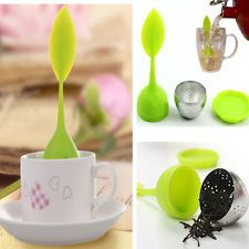 Silicone Stainless Steel Tea Leaf Strainer Herbal Spice Infuser Filter Diffuser