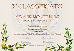 Premi e Riconoscimenti | Azienda Agricola Montenigo