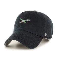 buy popular 9fed0 b949e Philadelphia Eagles Base Runner Clean Up Black 47 Brand Adjustable Hat