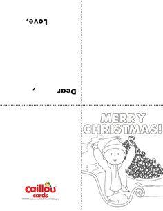 Caillou Holiday Fun – Printable Holiday Cards!