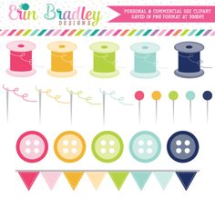 Sewing Clipart Crafting Graphics – Erin Bradley/Ink Obsession Designs