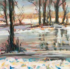 Icing Over - Original Fine Art By Ginny Stocker