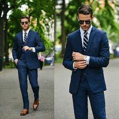 Preppy Mens Fashion, Men Fashion Show, Mens Fashion Suits, Mens Suits, Men's Fashion, Groom Suits, Groom Attire, Fashion Styles, Street Fashion