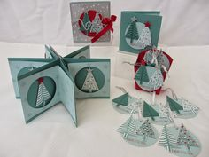Stamping Moments: Stampin' UP! 2014 Christmas Extravaganza.....with the Tree Punch, Festival of Trees and the Bright & Beautiful and matching star framelits.