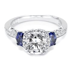 diamond ring | Diamond Ring With a Touch of Sapphire? Tacori Style 2628RDSP ...