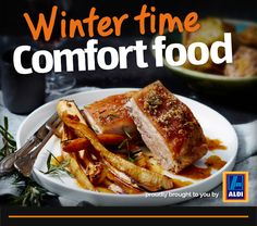 Gather the family together and try our gourmet CIDER ROAST PORK BELLY WITH APPLE & PARSNIP