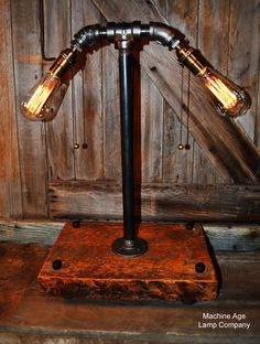 Steampunk Industrial Lamp, Farm Barn Wood  - BH1