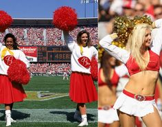 NFL cheerleaders then & now