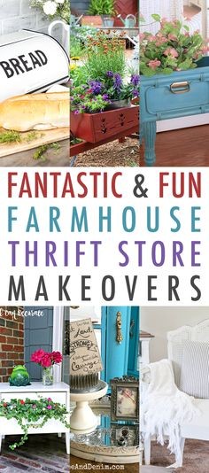 Well it is time for yet another collection of Fantastic and Fun Farmhouse Thrift Store Makeovers! You keep lovin them…we will keep bringing them to you! Today we have some awesome projects…from a Broken Chair that gets a surprising Patriotic Makeover to a Cane-Back Chair that gets a Refreshed and Fabulous new look and so …