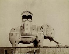 The Elephantine Colossus, or Elephant Hotel, at Coney Island. New York