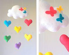 Nube de móvil bebé corazón móvil móvil por lovefeltmobiles