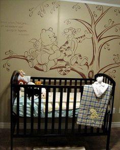 Vintage Winnie the Pooh Wall Murals | ... Room Kids Bedroom Wall Decals Adorable Winnie the Pooh Decals Ideas