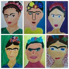 Frida Khalo - malba temperou (7.roč.)