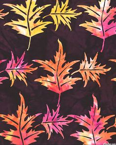 Hibiscus - Fire Maple Batik - Quilt Fabric from www.eQuilter.com