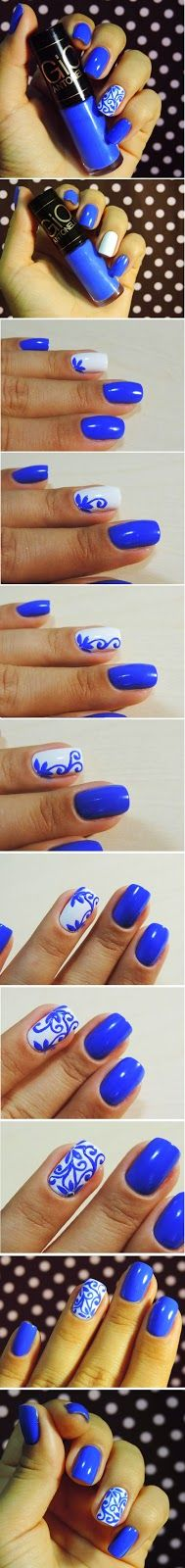 swirl accent nails