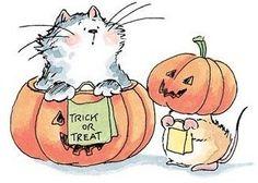 Halloween trick or treat Halloween Clipart, Halloween Drawings, Halloween Pictures, Halloween Cards, Scary Halloween, Halloween Themes, Fall Halloween, Happy Halloween, Halloween Arts And Crafts
