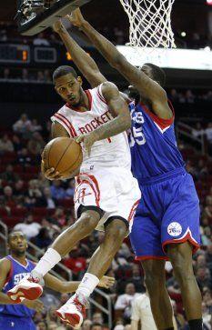 619060ad1 Houston Rockets forward Trevor Ariza (1) goes up for the basket against  Philadelphia 76ers