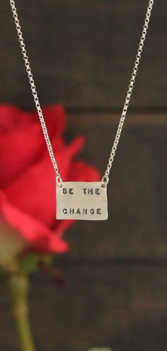 Be The Change Handmade Sterling Silver Necklace, USA
