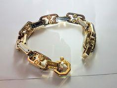 Gold bracelet // Style Baraka  14k.147gr.230mm. 18k. 198gr.240mm. Bracelets For Men, Fashion Bracelets, Jewelry Bracelets, Jewelery, Chain Jewelry, Gold Money, 2pac, Accessories, Style