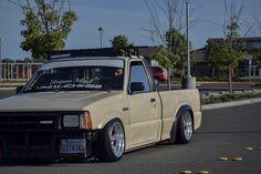 skrt skrt • • #getlow #minimachines #jdm #gang #static #scrape #hellaflush #led #minitruckin #tucking #brokeboyz #creamyboyz #lurkin #yee #bayarea #mazda #b2000 Bagged Trucks, Mini Trucks, Ford Trucks, Truck Mods, Shop Truck, Rc Cars Diy, Nissan Hardbody, Lowrider Trucks, Toyota 4runner