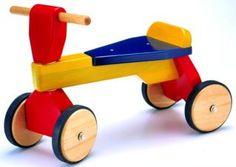 Este fue el primer vehículo de Roque con un año. Luego fue de Mariana, y aguanta...