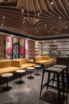 Ceiling Design Modern Restaurant Design, Restaurant Interiors, Ceiling  Ideas, Ceiling Design, Floor