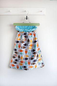 Small Orange/Brown Night Owl Bitsy bag by BitsyBrand on Etsy, $44.00