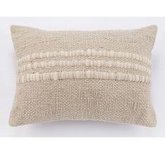Alma Handwoven Cotton Pillow - Cement