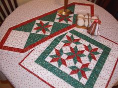 my first christmas table runner