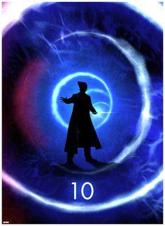 Matt Ferguson's Dr. Who 50th Anniversary Print -- Tenth Doctor fanart