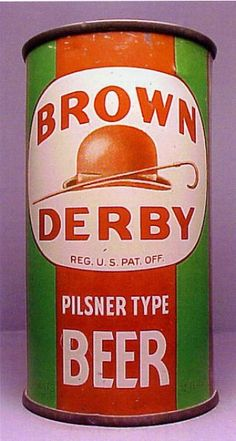 Brown Derby Pilsner Type Beer Can from Humboldt Malt & Brewing Co. Brewing Co, Home Brewing, Beer Advertisement, Beer Can Collection, Old Beer Cans, Beer Bucket, Beer Company, Beer Brands, Vintage Packaging