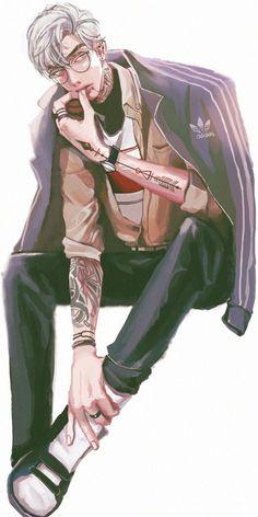 Attic us Rubiales Handsome Anime Guys, Cute Anime Guys, Hot Anime Boy, Anime Boys, Character Inspiration, Character Art, Anime W, Boy Illustration, Drawn Art