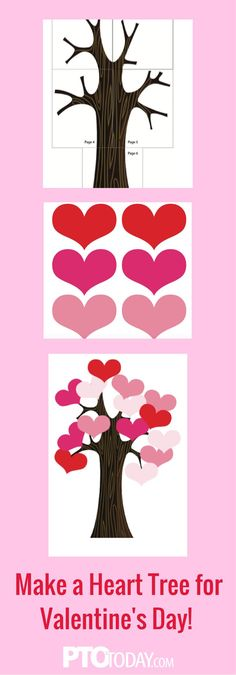 Free printable (& instructions) on how to make a Heart Tree for Valentine's Day. Great classroom project!