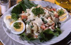 14 dresingov, zálievok a olejov do šalátov Potato Salad, Potatoes, Meat, Chicken, Ethnic Recipes, Food, Potato, Essen, Meals