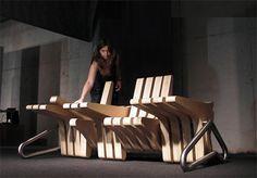modular modern bench idea