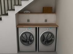 laundry under staircase | Laundry Room Planner Under The Stairs