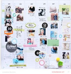 #papercraft #scrapbook #layout. Just Go *SB main kit only* by lory at @studio_calico