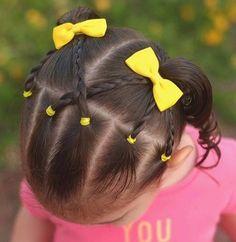 Ava'S bows him peinados cabello corto niña, peinados con trenzas para niñas, pelo de Easy Toddler Hairstyles, Lil Girl Hairstyles, Princess Hairstyles, Hairstyles Haircuts, Braided Hairstyles, Amazing Hairstyles, Kids Hairstyle, Toddler Hair Dos, Childrens Hairstyles