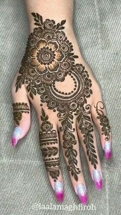 Latest Bridal Mehndi Designs, Full Hand Mehndi Designs, Mehndi Designs Book, Mehndi Designs For Beginners, Wedding Mehndi Designs, Latest Mehndi Designs, Mehndi Designs For Hands, Floral Henna Designs, Finger Mehendi Designs