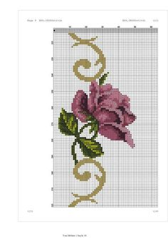 Cross Stitch Rose, Cross Stitch Flowers, Cross Stitch Patterns, Crochet Patterns, Mosaic Flowers, Rico Design, Fair Isle Pattern, Prayer Rug, Little Designs