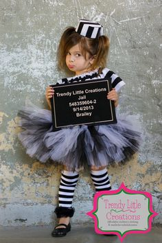 Jailbird costume - Jailbird tutu set - black and white tutu, mini hat and peasant top -  SEWN  tutu set on Etsy, $48.50