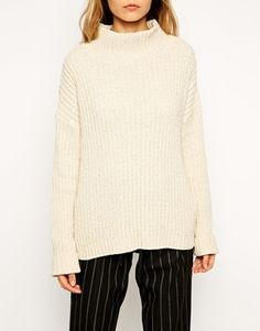 Enlarge ASOS Jumper With High Neck In Chenille