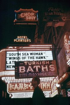Clark street Chicago,1953