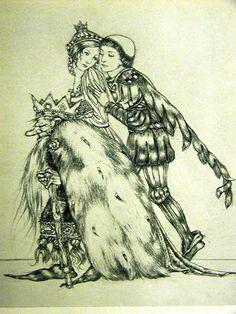 Sulamith Wulfing 1932 Princess Page w King Gnome Print Matted | eBay