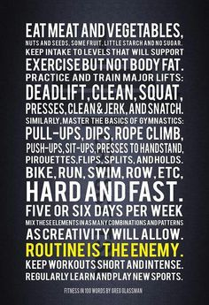 Routine is the enemy.