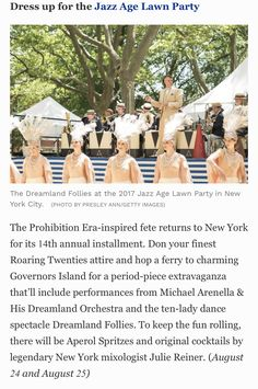 Roaring Twenties, The Twenties, Jazz Age Lawn Party, New York City, New York, Nyc